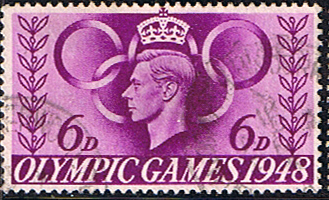 GB Stamp Stamps Great Britain 1948 Olympic Games Set Fine Used
