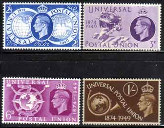 Great Britain Stamps 1949 Universal Postal Union Set Fine Mint