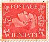 Great Britain 1950 King George VI Head SG 507a Sideways Watermark Fine Used