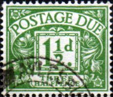 Stamps of Great Britain 1951 Post Due SG D 36 Fine Used Scott J 35