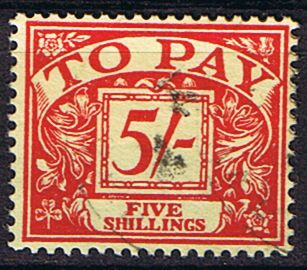 Stamps of Great Britain 1955 Post Due SG D 54 Fine Used Scott J 53