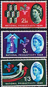 GB Stamps Great Britain 1962 National Productivity Year Set Fine Mint