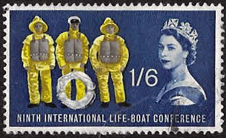 GB Stamps Great Britain 1963 9th International Lifeboat Conference Set Fine Mint