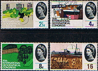 GB Stamps Great Britain 1964 20th International Geographical Congress Set Phosphor Fine Mint