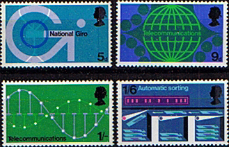 Postage Stamp Stamps Post Office Technology Set Fine Mint