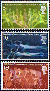 Postage Stamp Stamps Great Britain 1970  British Commonwealth Games Set Fine Mint