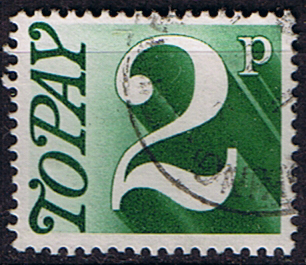 Stamps of Great Britain 1970 Post Due SG D 79 Fine Used Scott J 81