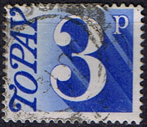 Stamps of Great Britain 1970 Post Due SG D 80 Fine Used Scott J 82