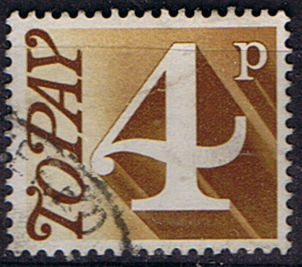 Stamps of Great Britain 1970 Post Due SG D 81 Fine Used Scott J 83