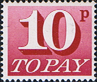 Great Britain 1970 Post Due SG D 84 Fine Mint