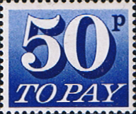 Great Britain 1970 Post Due SG D 87 Fine Mint
