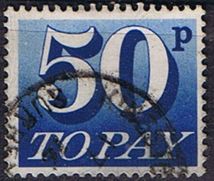 Stamps of Great Britain 1970 Post Due SG D 87 Fine Used Scott J 89
