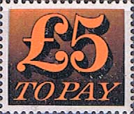 Great Britain 1970 Post Due SG D 89 Fine Mint