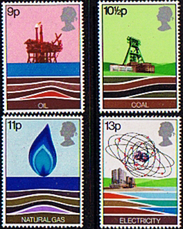 Postage Stamp Stamps Great Britain 1978 Energy Resources Set Fine Mint
