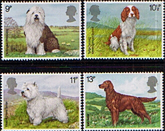 Postage Stamp Stamps Great Britain 1979 Dogs Set Fine Mint