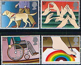 Postage Stamps Great Britain 1981 Year of Disabled Persons Set Fine Mint