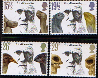 GB Stamps Great Britain 1982 Charles Darwin Set Fine Mint