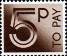Stamps of Great Britain 1982 Post Due SG D 94 Fine Used Scott J 96