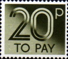 Stamps of Great Britain 1982 Post Due SG D 96 Fine Used Scott J 98