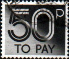 Postage Stamps of Great Britain 1982 Post Due SG D 97 Fine Used Scott J 99