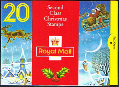 Postage Stamps Great Britain 1992 Christmas Booklet SG LX3