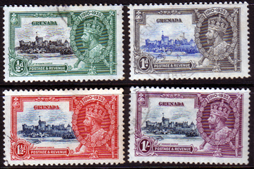 Grenada Stamps 1935 King George V Silver Jubilee Set Fine Used