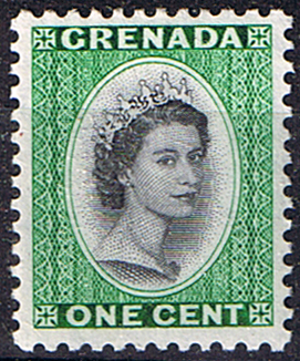 Stamps Stamp Grenada 1953 Queen Elizabeth Head SG 193 Fine Mint SG 193 Scott 172