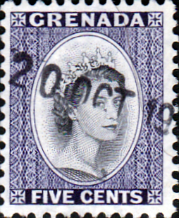 Grenada 1953 Queen Elizabeth Head SG 197 Fine Used