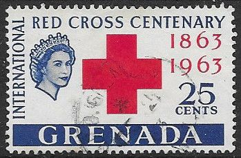Grenada Stamps 1963 Red Cross Centenary