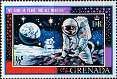 Stamp stamps Grenada 1969 First Man on the Moon SG 348 Fine Mint Scott