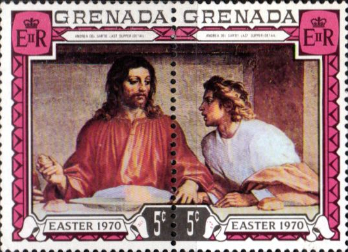 Grenada 1970 Easter in Tennant Pair SG 372/3 Fine Used