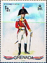 Stamp stamps Grenada 1971 Military Uniforms SG 462 Fine Mint Scott 428