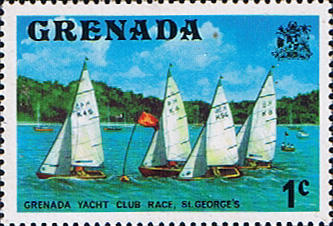 Postage Stamps Stamp Grenada 1975 SG 650 Yacht Club Race Fine Mint Scott 584