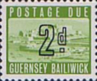 Stamp Postage Stamps Guernsey 1969 Post Due SG D2 Scott J 2