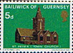 Postage Stamps Stamp Guernsey 1970 Christmas Churches SG 41 Fine Mint  Scott 38