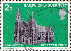 Guernsey 1971 Christmas Churches SG 63 Fine Used