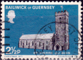 Guernsey 1971 Christmas Churches SG 64 Fine Used