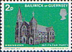 Postage Stamps Stamp Guernsey 1971 Christmas Churches Fine Mint SG 63 Scott 60