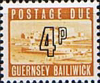 Stamp Postage Stamps Guernsey 1971 Decimal Post Due SG D12 Scott J 12