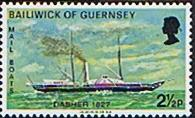 Guernsey 1972 Mail Packet Boats SG 68 Fine Mint