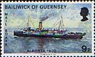 Guernsey 1972 Mail Packet Boats SG 70 Fine Mint