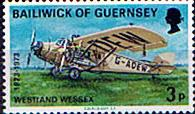Channel Islands Stamps Postage Stamps Guernsey 1973 Air Service Set Fine Mint