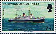 Guernsey 1973 Mail Packet Boats SG 82 Fine Mint