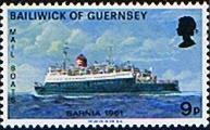 Guernsey 1973 Mail Packet Boats SG 83 Fine Mint