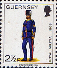 GB Regional Stamps Stamp Guernsey 1974 Military Uniforms SG 102 Corporal Royal Guernsey Artillery Fine Mint SG 102 Scott 99