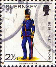 Channel Islands Stamps Stamp Guernsey 1974 Military Uniforms SG 102 Corporal Royal Guernsey Artillery Fine Used  SG 102 Scott 99