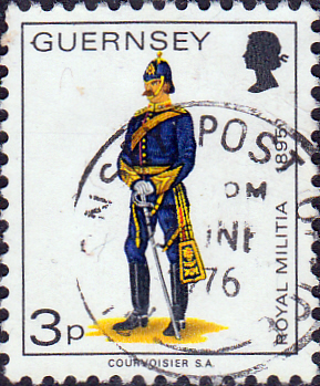 Channel Islands Stamps Stamp Guernsey 1974 Military Uniforms SG 102 Field Officer Royal Guernsey Artillery Fine Mint SG 103 Scott 100