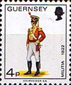 Postage Stamps Guernsey 1974 Military Uniforms SG 105 Officer East Regiment Fine Mint SG 105 Scott 102