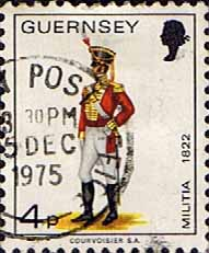 Postage Stamps Guernsey 1974 Military Uniforms SG 105 Officer East Regiment Fine Used