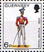 Guernsey 1974 Military Uniforms SG 107 Officer, North Regiment Fine Mint